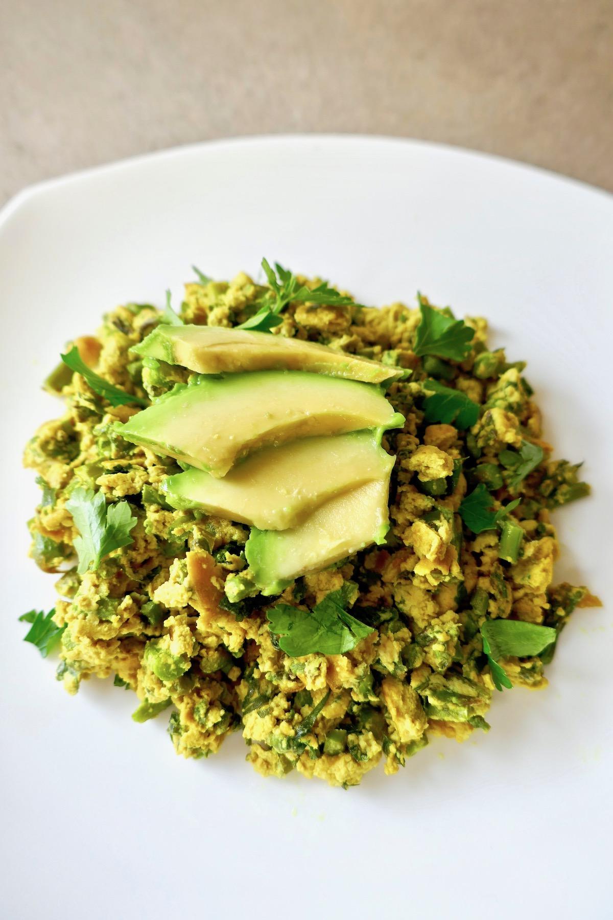 vegan greens scramble