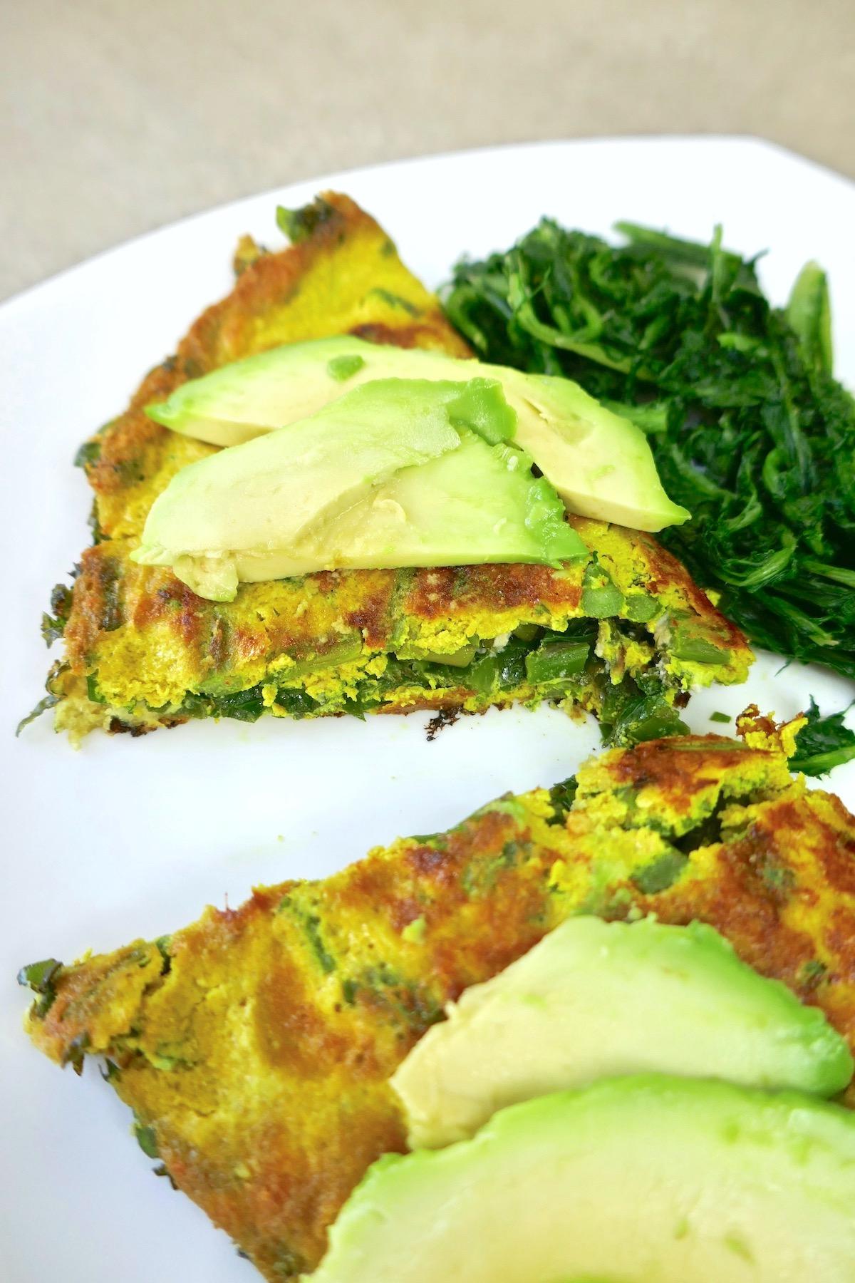 vegan greens omelet