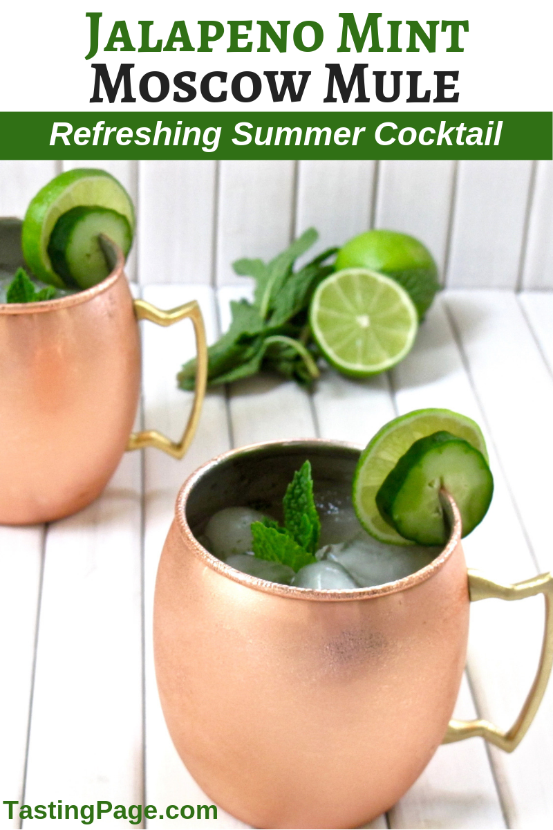 Jalapeno Mint Moscow Mule | TastingPage.com #cocktail #cocktails #drinks #summer #beverage #recipe