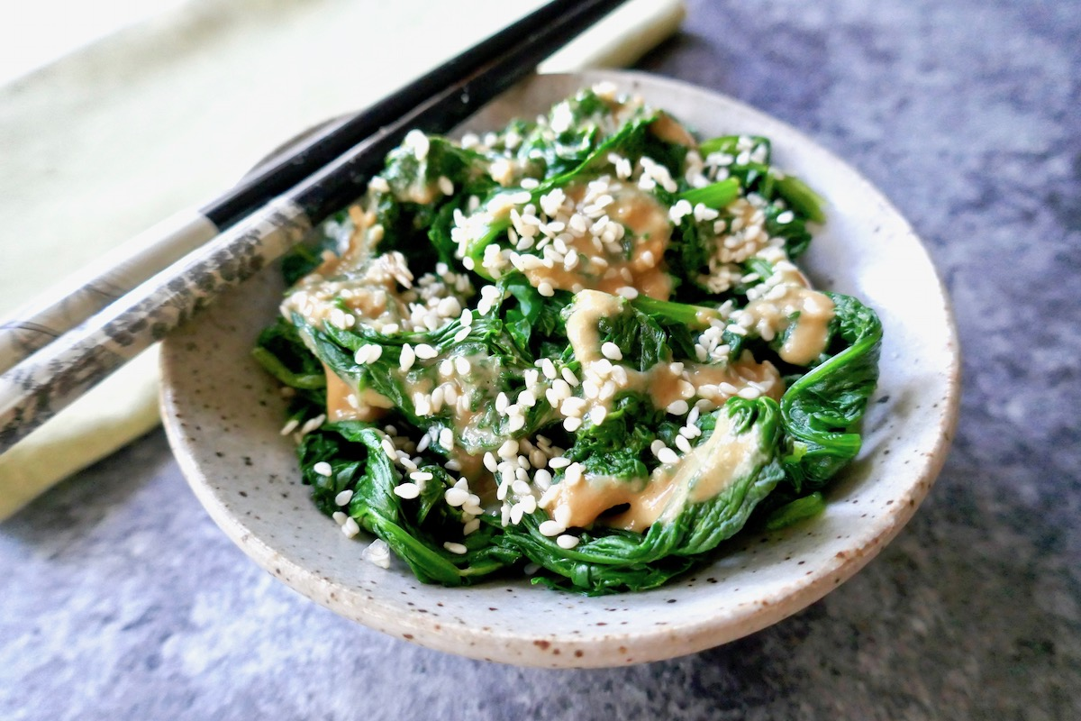cold sesame spinach