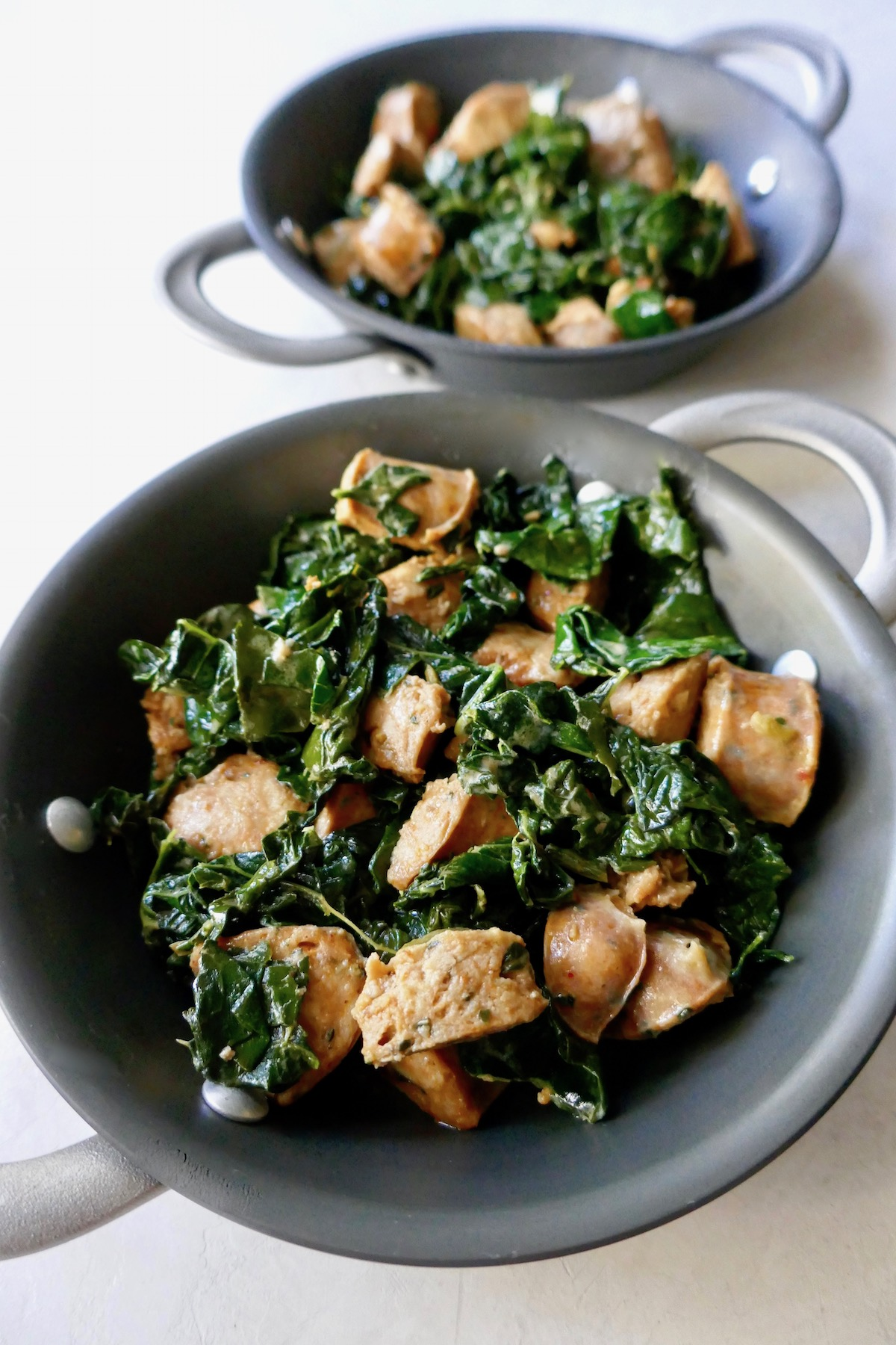 sauteed kale and sausage