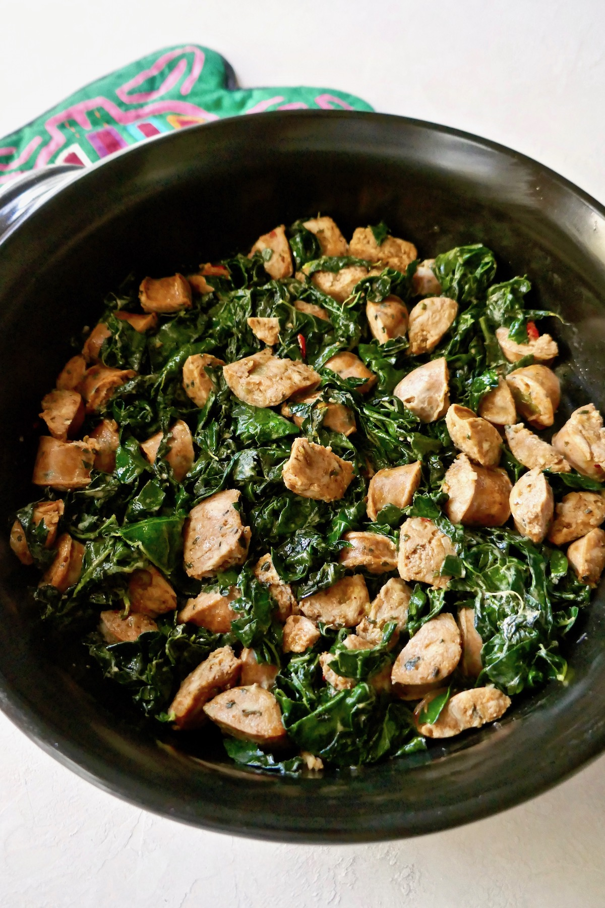 kale sausage skillet