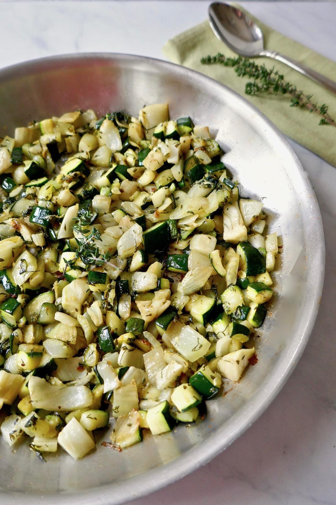 sauteed fennel zucchini thyme
