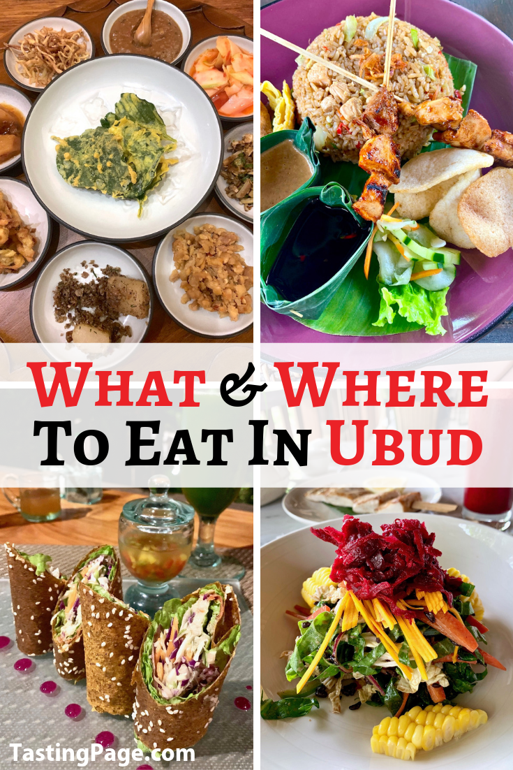 Here are some top tips for dining in the best restaurants in Bali. Learn what and where to eat in Ubud, and how to avoid Bali Belly! | TastingPage.com #ubud #bali #ubudbali #ubudrestaurants #ubuddining #travel #restaurants