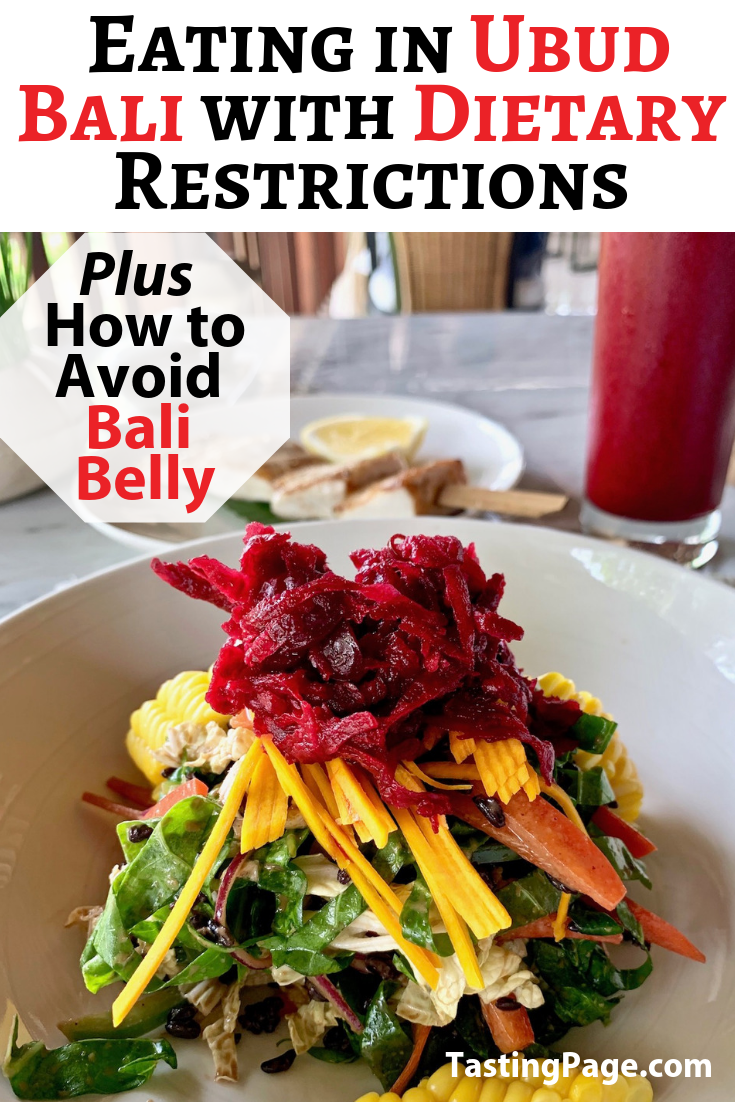 How to eat in Ubud Bali with special diets from gluten free, dairy free, paleo and vegan | TastingPage.com #ubud #bali #ubudrestaurant #ubudrestaurants #ubudcafe #ubudvegan #ubudglutenfree #ubudpaleo