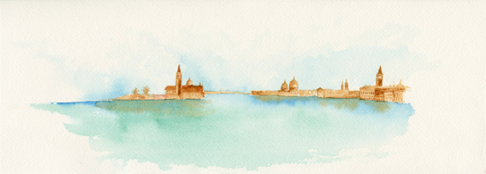 Venice from a distance in time and space