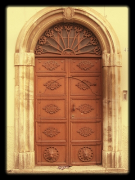 Doorway within doorway, Ferrandina, Italy