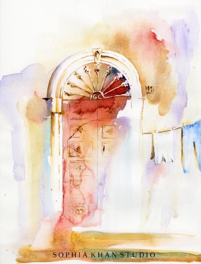 An invitation from doorway No. 48 ~ Ferrandina, Italy