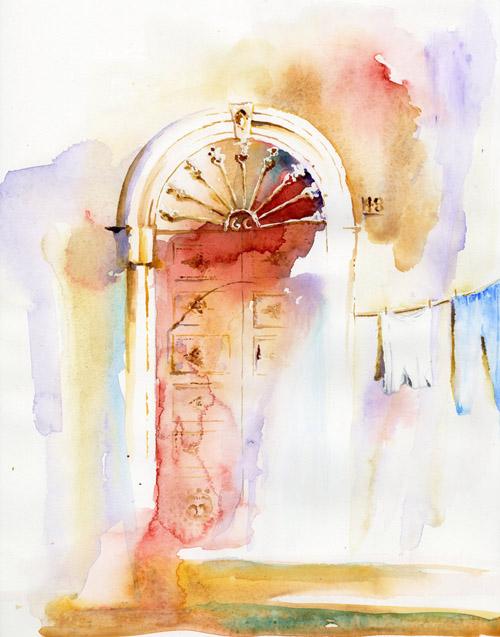 Invitation from doorway No. 48, Ferrandina