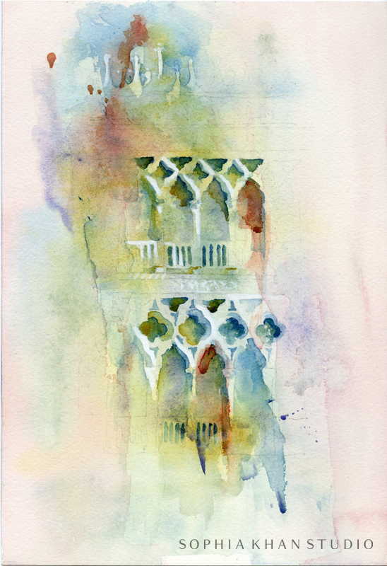Watercolor on Arches paper