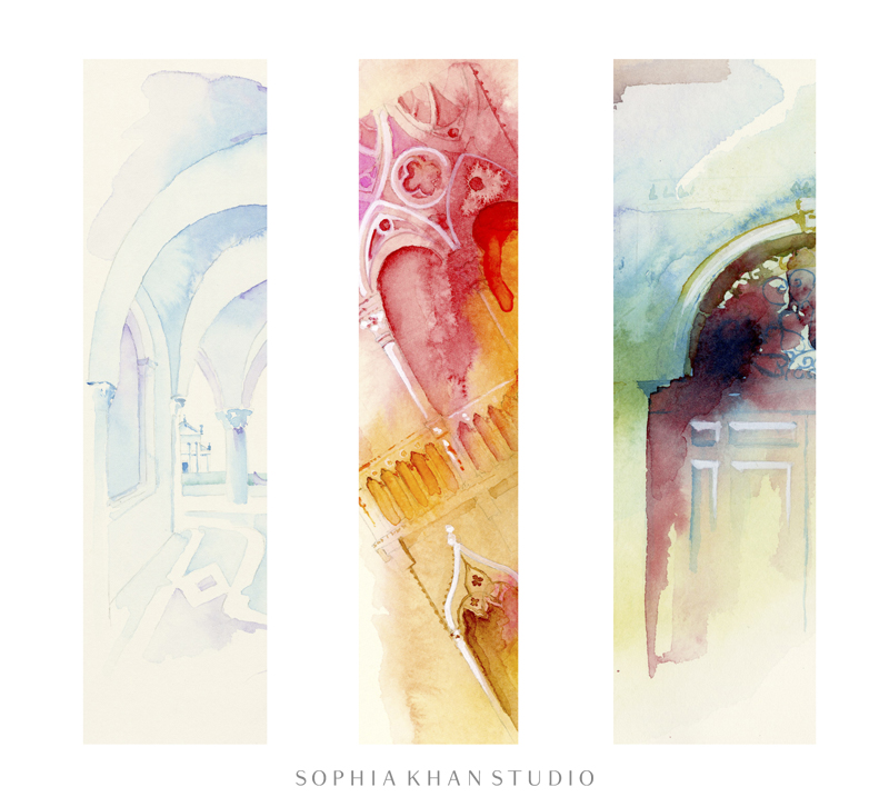 Detail views of a few of the watercolors that I painted in Venice ~ I'll be sharing more soon....
