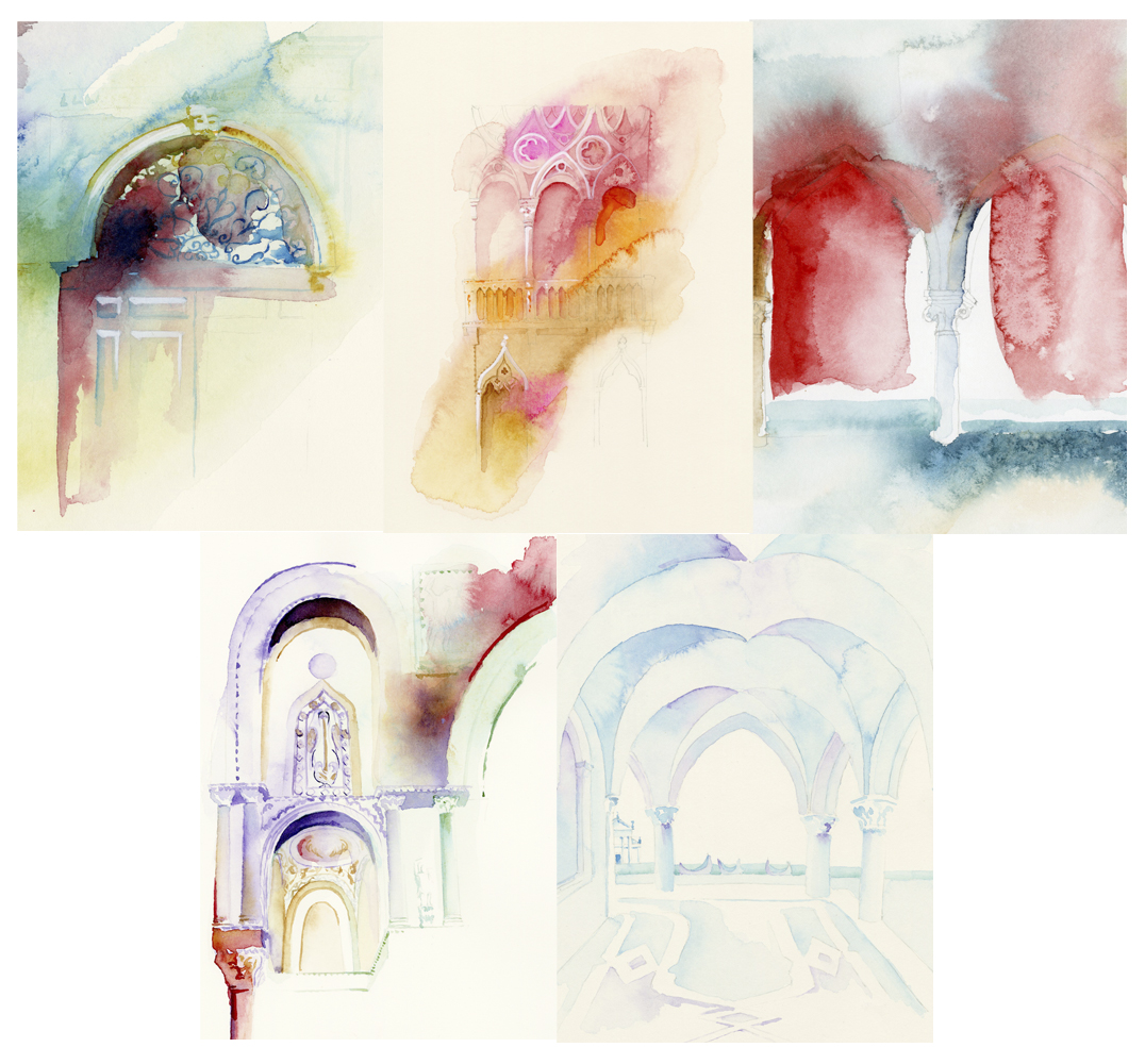 Samples of Venice Watercolors
