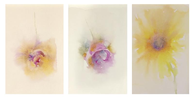 'Watercolor Petals' in my sketchbook