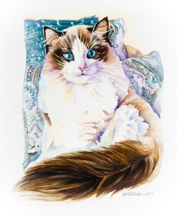 """Abigail"" 11x14"" Watercolor ~ Giclee Prints & Cards"