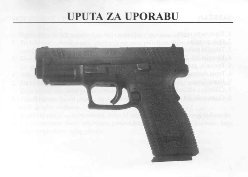 To see the PDF of the Original Croatian HS2000 manual click on the picture.