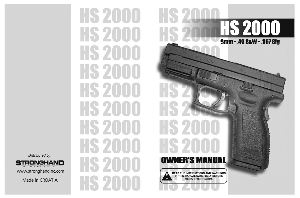 To view the Stronghand Incorporated version of the HS2000 manual click on picture.