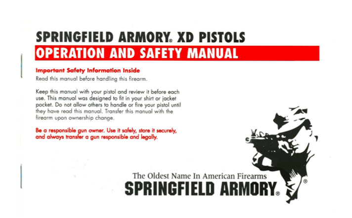 To view the first version of the XD manual from Springfield Armory click on the picture above.