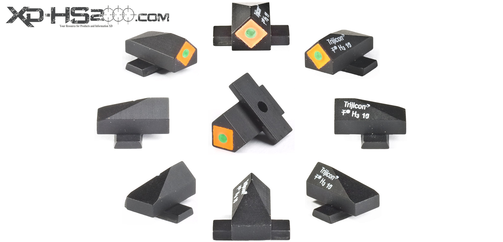 A 360 view of the orange Tritium version front Speed Sight.