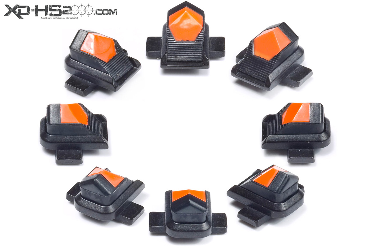 A 360 view of the Advantage Tactical front sight with the orange insert.