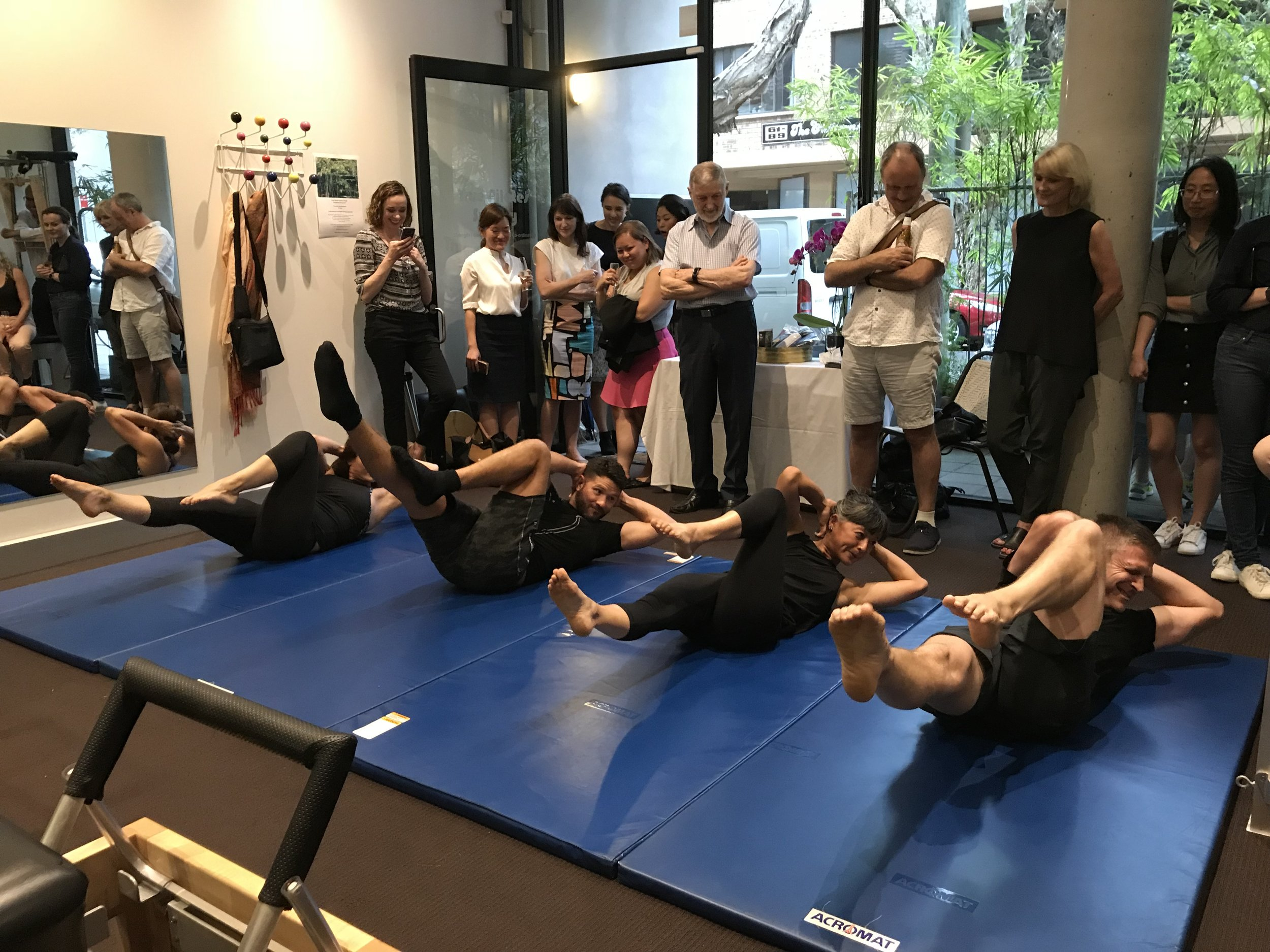 True Pilates Sydney Team demonstration