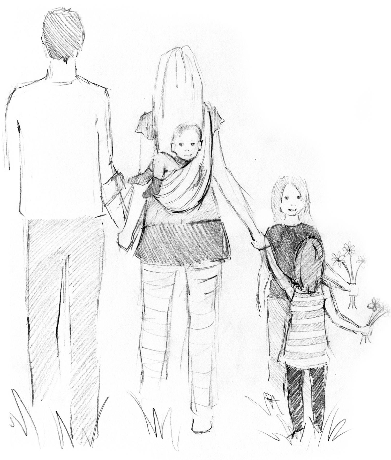 Family Walk  by Miranda