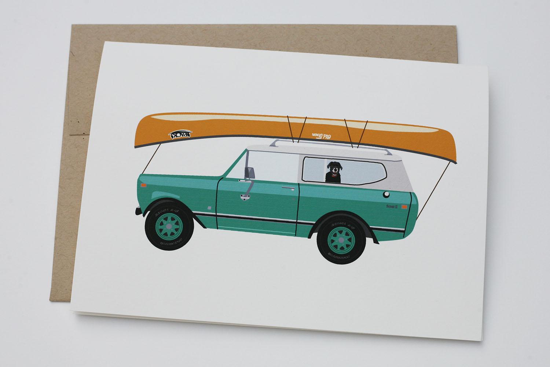 Go Canoeing Greeting Card