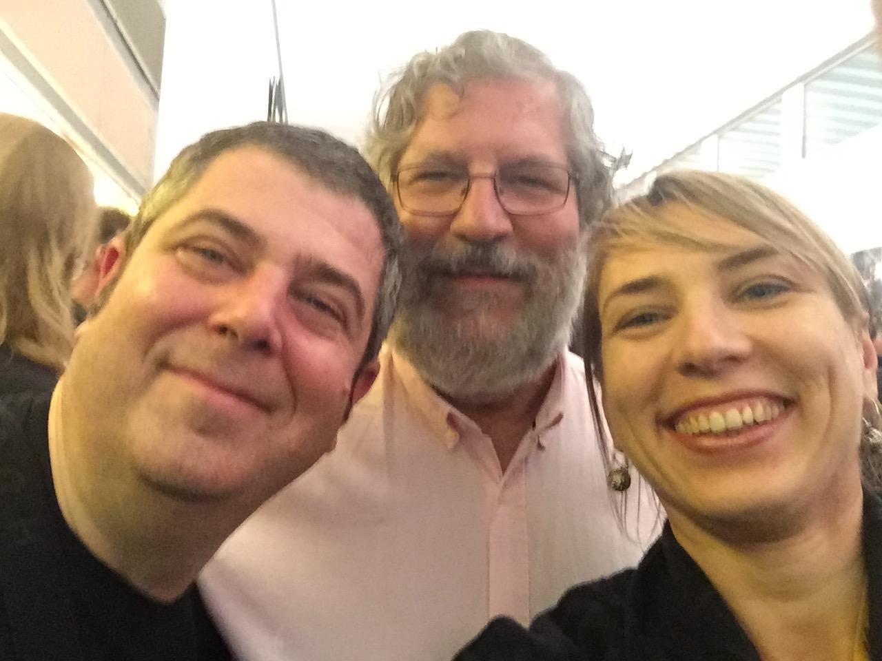 With Kepa Junkera and José Miguel Lopez in Santiago de Compostela.