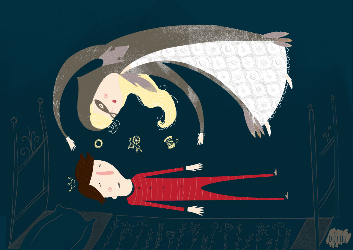 """""""Furrypelts"""" a Grimm's Bros Tale  Illustration by Jessica Duthu  ©Strawberry Moth"""