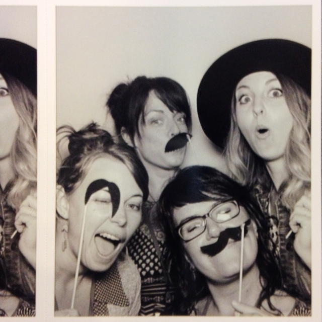 Photo booth antics with my new maker friends