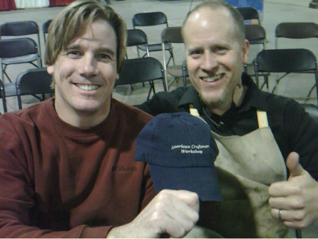 ACW Hat With Tommy Mac & Andy Chidwick at The Woodworking Show