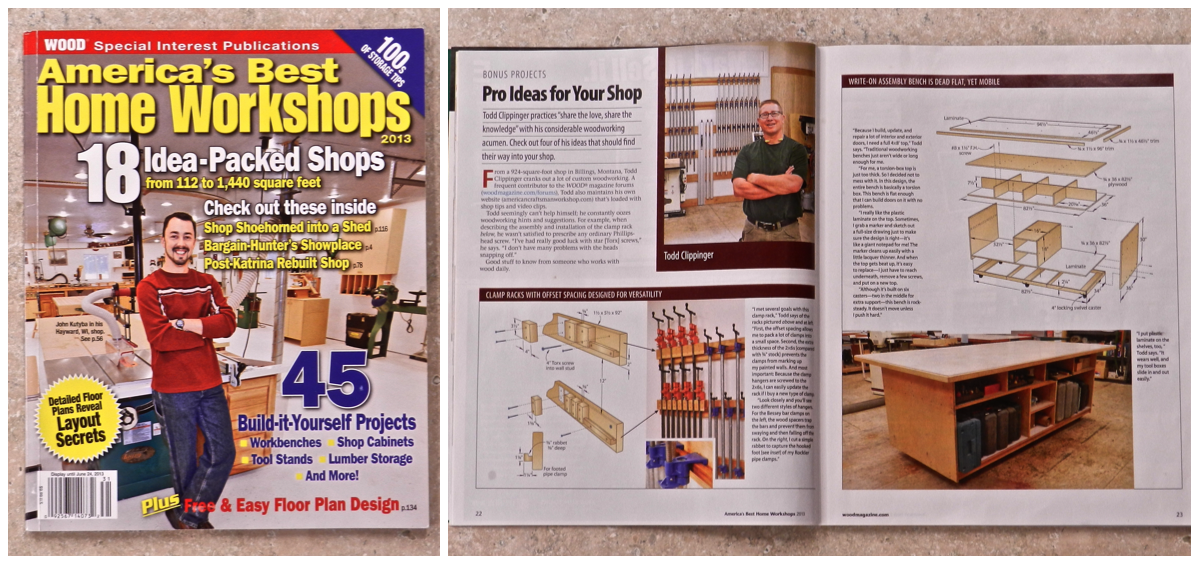 Images used with permission by WOOD Magazine & America's Best Home Workshops 2013