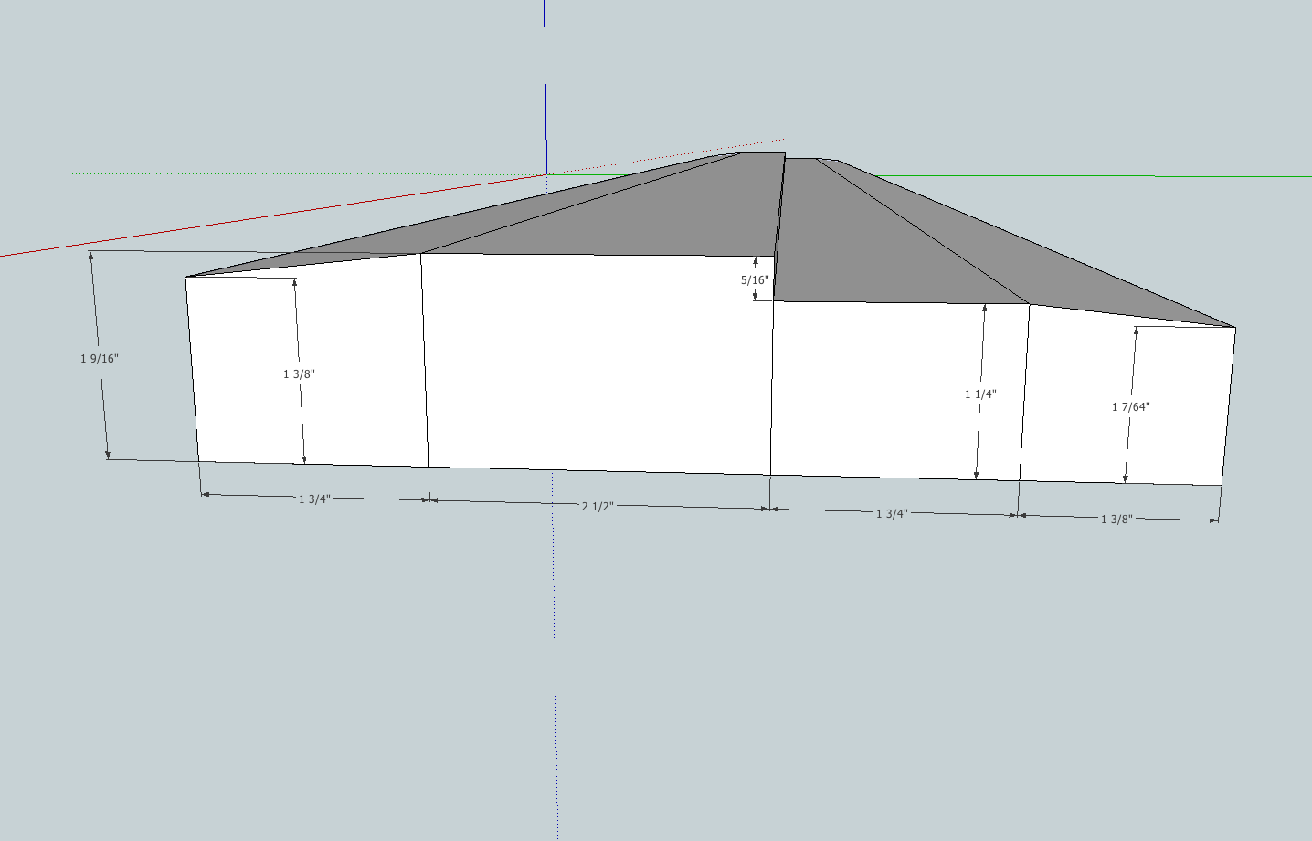 A design solution to create a threshold for a set of french doors drawn in SketchUp.