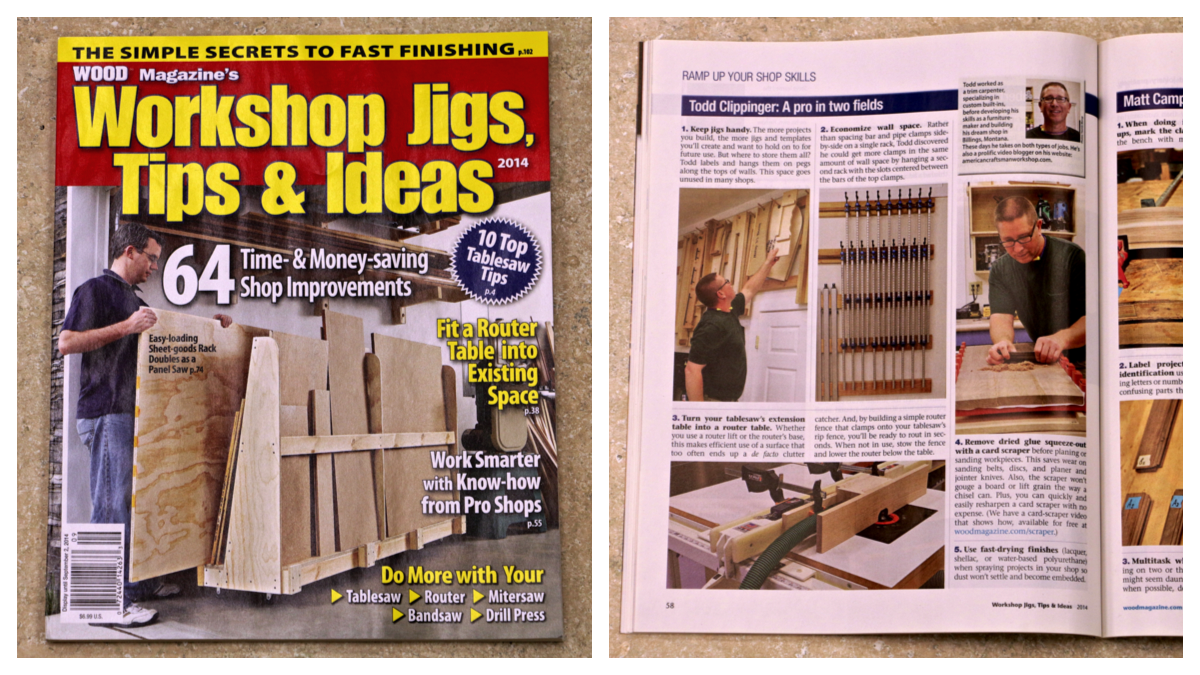 Workshop Jigs, Tips & Ideas 2014