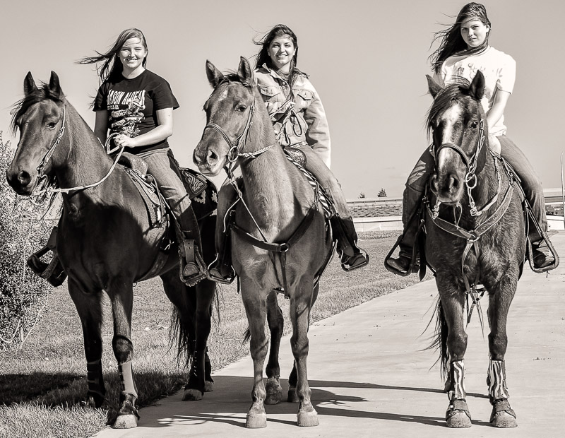 Before I made to the Bishop Arts District, I saw these ladies riding horses. So I pulled over and asked if I could take a picture. I converted the image to black & white and add a warm tone to give that old western feel.