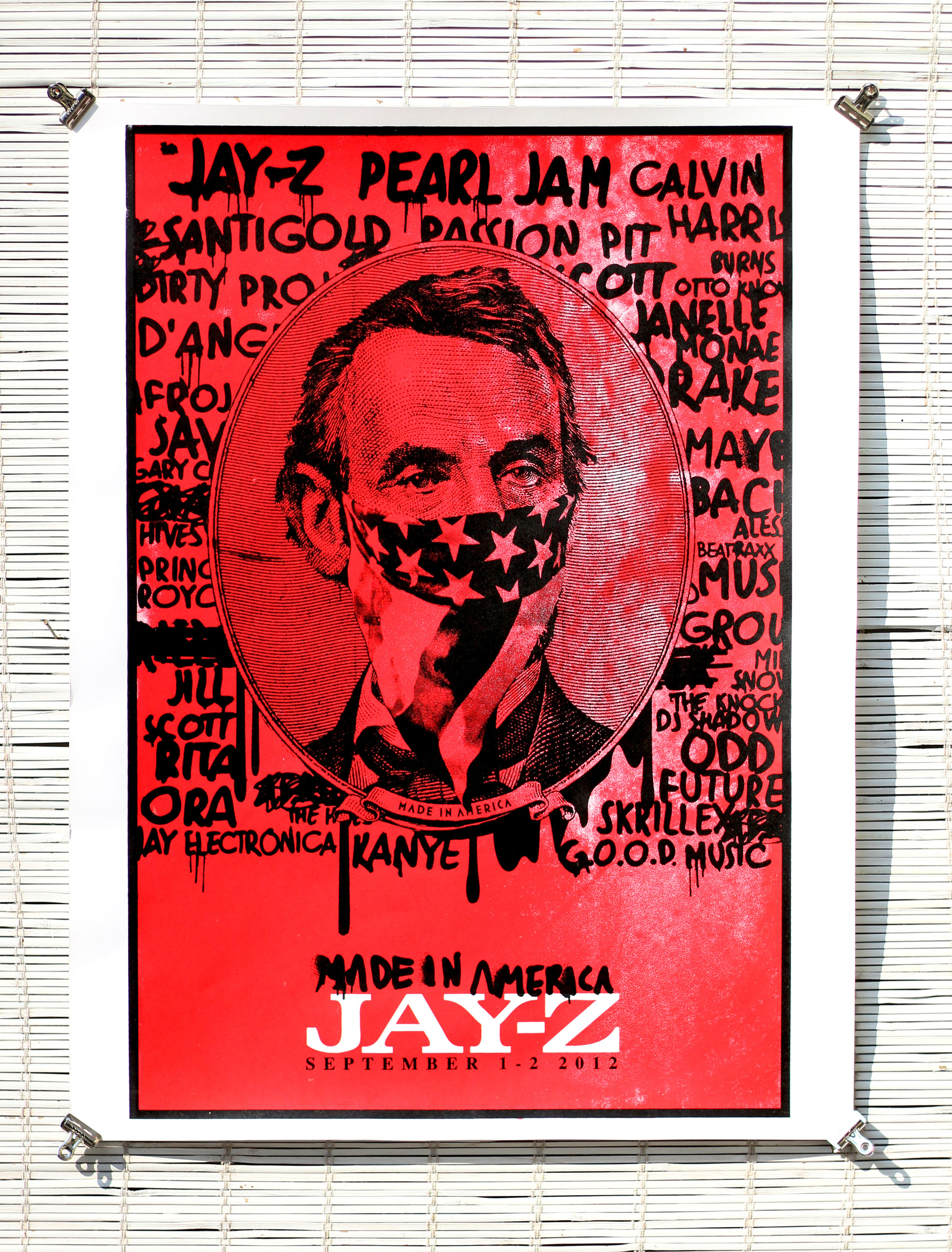 Poster Printing for Jay-Z Made in America festival