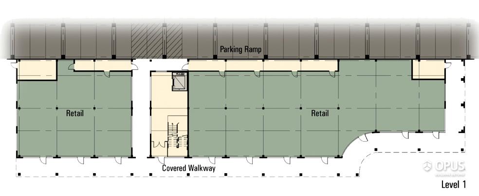 Retail Wing Floor Plan Level - 1