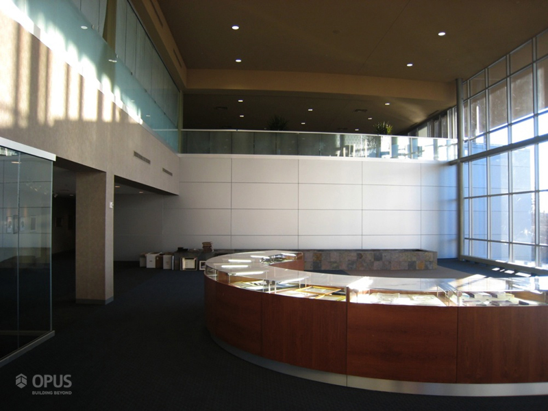 Display Case and Exterior of Lecture Hall