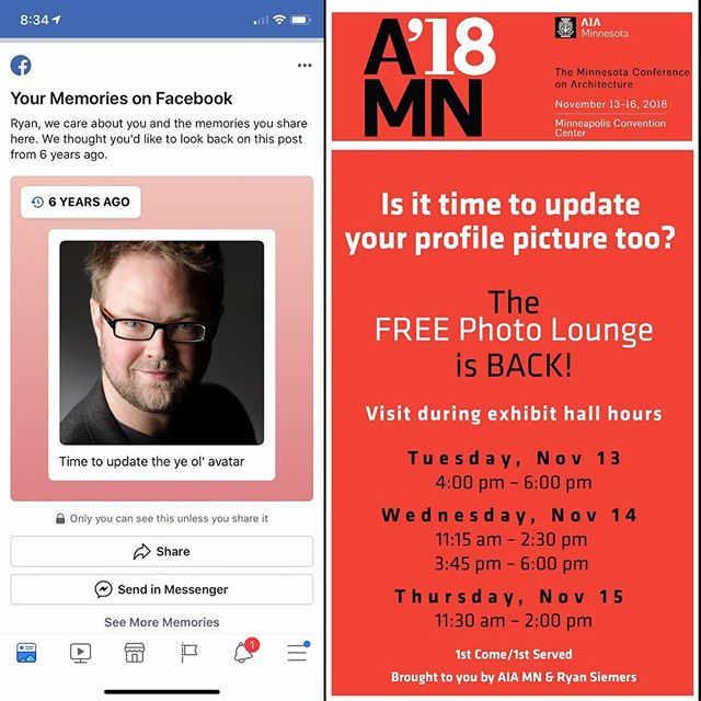 Come visit the Photo-lounge this week at the AIA MN '18 convention to get your FREE professional portrait.