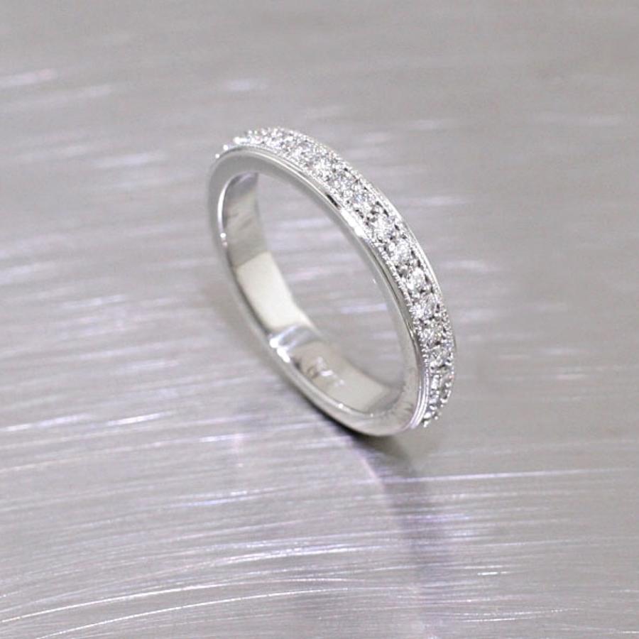 Item #21110054: Bead-Set Diamond Eternity Band, Platinum