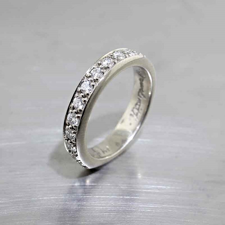 Style #21110070: Bead-Set Diamond Band in White Gold