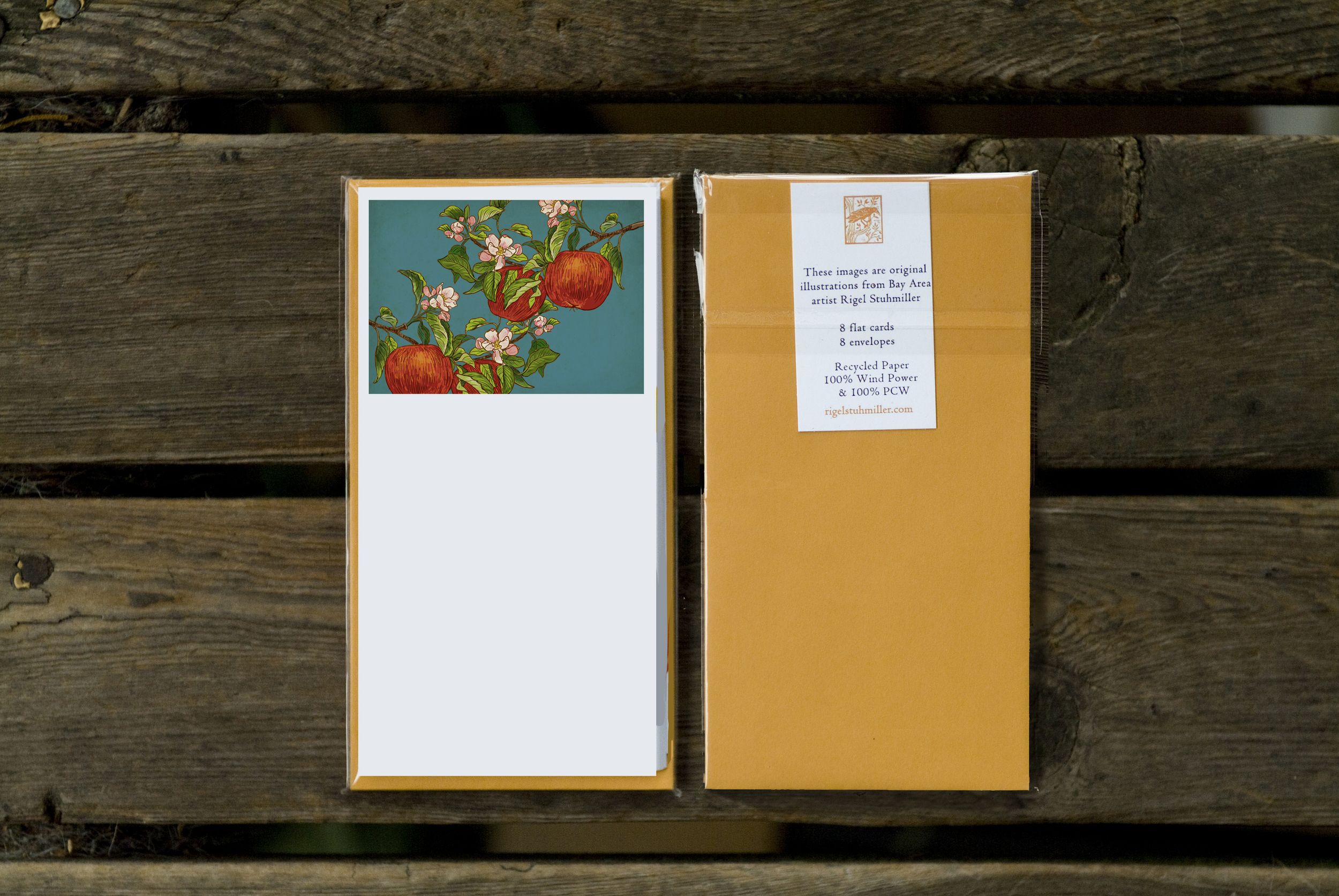 Apples on Branch Flat Panel Card Pack