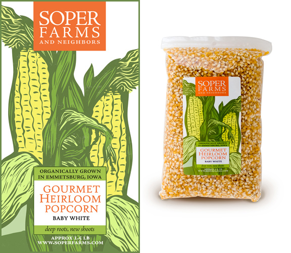 READ MORE  : Label design for Soper Farms Gourmet Heirloom Popcorn