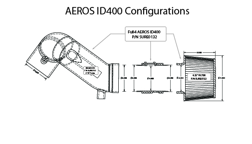"The Aeros ID400 is the first of its kind.  Our proprietary dual airfoil design of the air flow straightener creates a clean signal for advanced tuning.  It measures 4"" ID (inside diameter) from the front of the housing through to the turbo inlet."