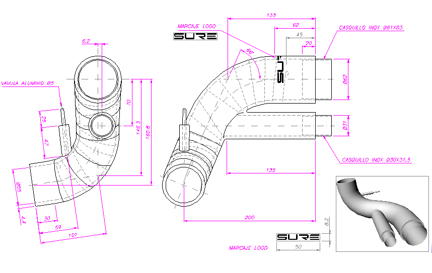 Sidewinder  technical drawings