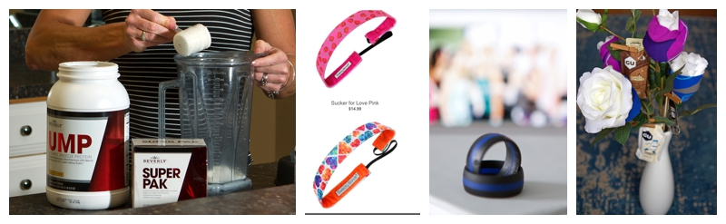 Chocolate-Flavored Protein, Sweaty Bands, Pyrkia Rings and Runner-Inspired Bouquets all make wonderful Valentine's Day gift ideas for runners.