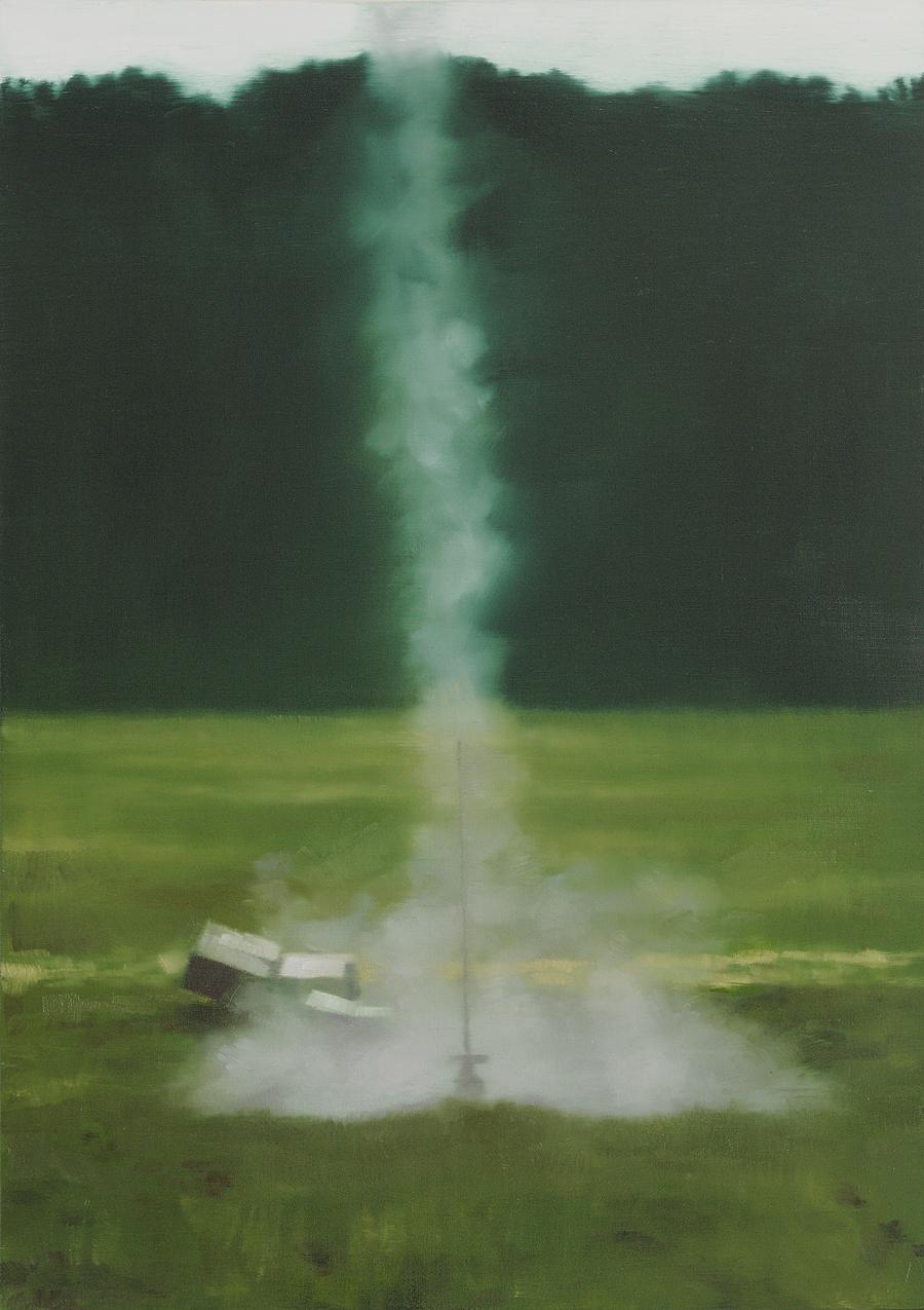 The Message - John Brennan,2013, oil on canvas, 70 x 50 x 4 cm