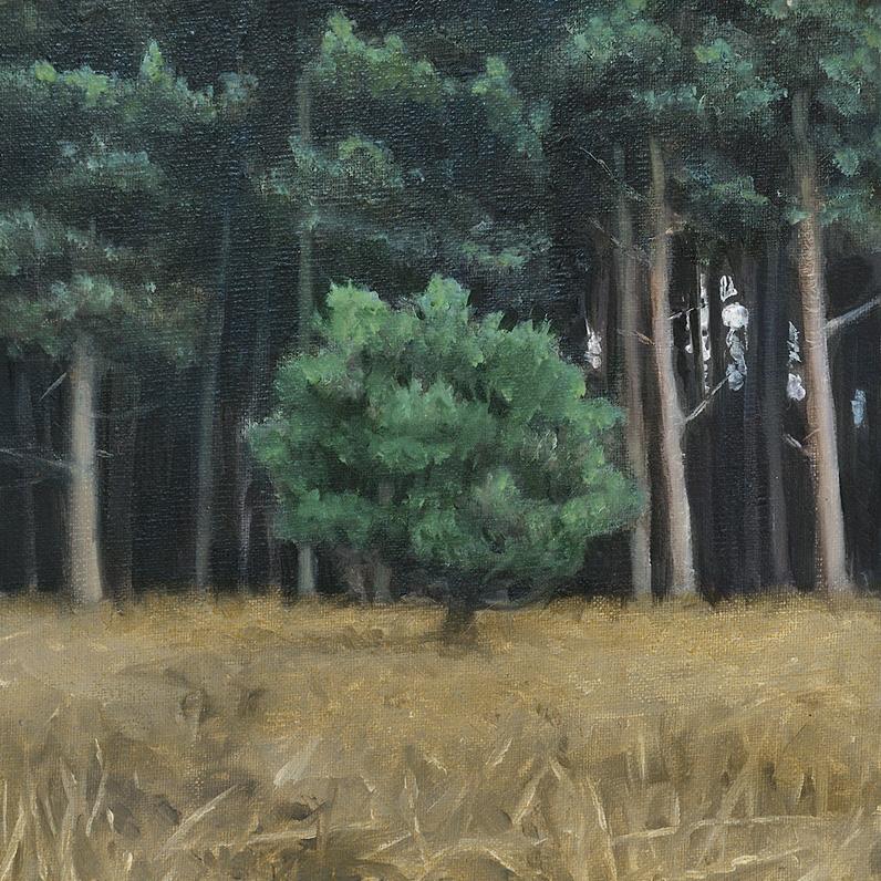 Myth I: This is the Place - John Brennan,2012, oil on canvas, 20 x 20 x 4 cm
