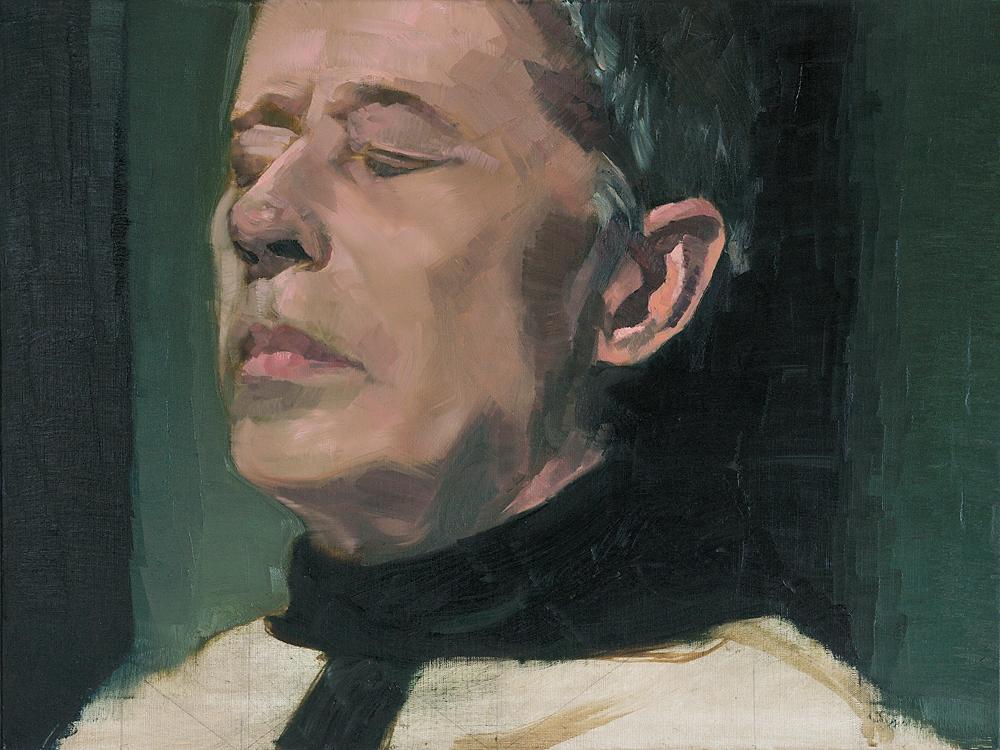 Celebrant  - John Brennan, 2013, oil on canvas, 45.5 x 60.5 x 2cm
