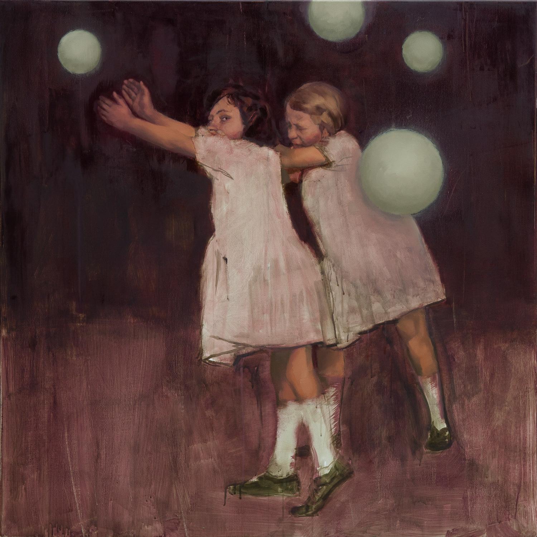 Experiments in Movement: Part 1  - John Brennan, 2014, oil on canvas, 100 x 100 x 4 cm