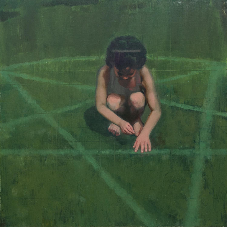 Invocation  -John Brennan,2016,oil on canvas, 100 x 100 x 4 cm